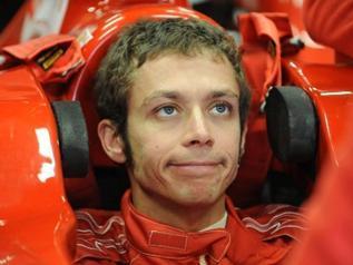 Valentino Rossi essai Ferrari