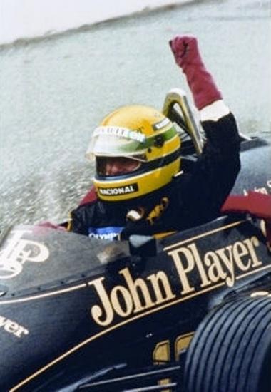 Senna 1ère victoire Estoril 85 à mon stage Porsche.