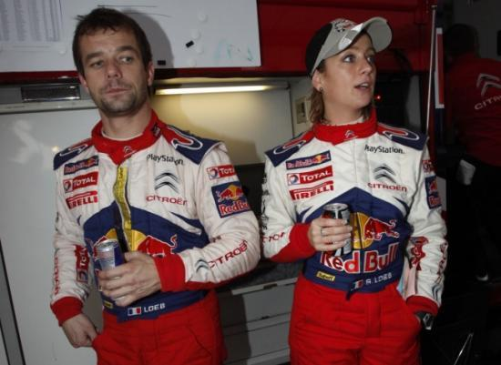 Séverine et Sébastien Loeb
